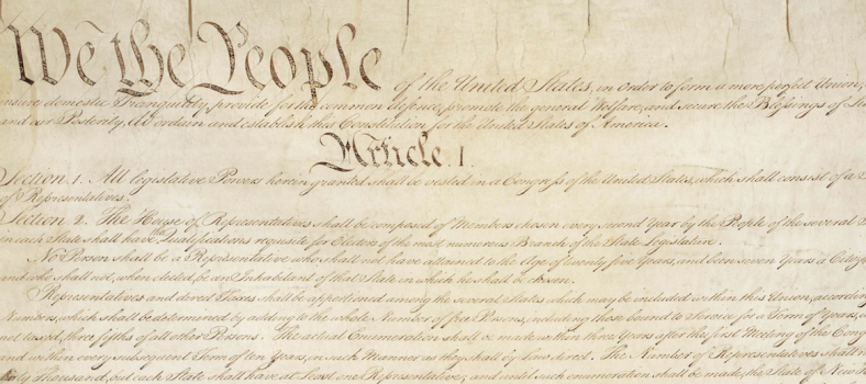 Photo of the U.S. Constitution