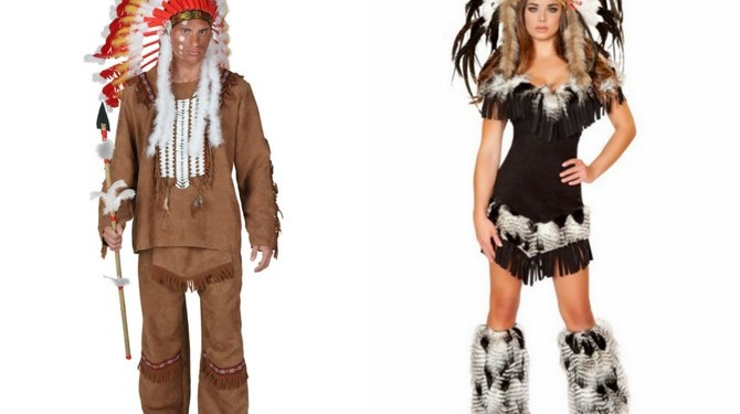 Racist Native American Halloween costumes