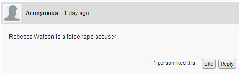 Rebecca Watson is a false rape accuser.