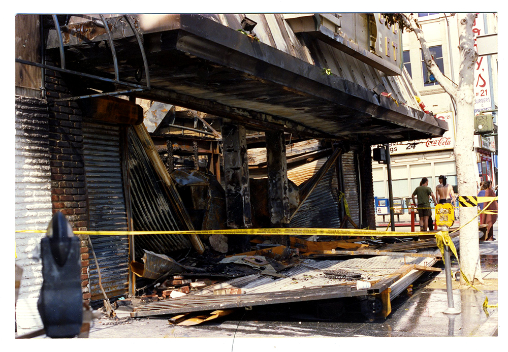 Burned down building from the 1992 Los Angeles riot.