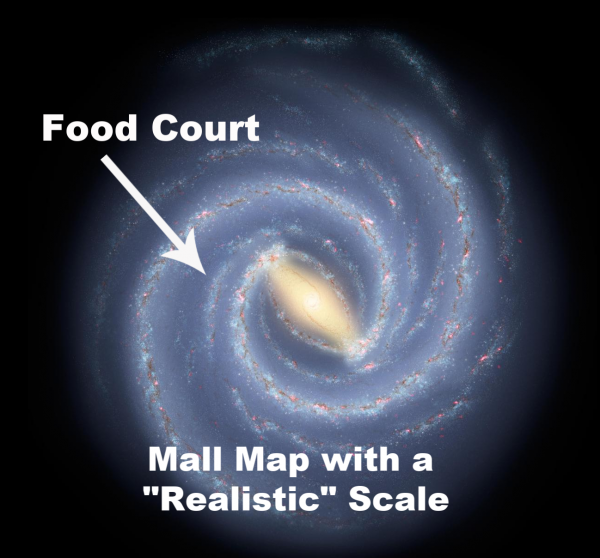 Food Court Milky Way mall map