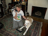 Chris and his awesome Guide Dog